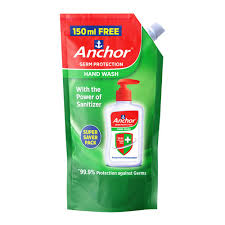 Anchor Hand wash Pouch packing