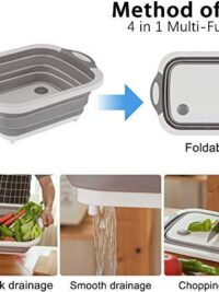 4 in 1 Multi-Functional Silicon Based Kitchen Cutting Board | Chopping Board | Vegetable Cutting Board |