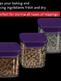 3 Pcs Transparent Kitchen Storage Container Set Pack of 3 Jars – 750 ml