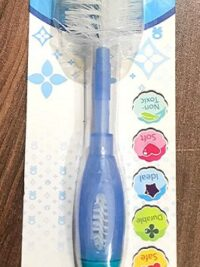 2 in 1 Feeding Bottle and Nipple Cleaning Brush with Suction Base and Nylon bristles for Easy Cleaning